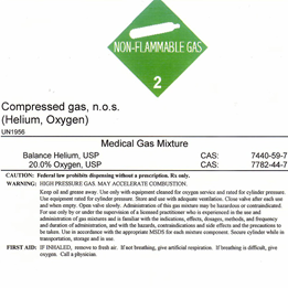 Material Safety Data Sheet Helium Gas