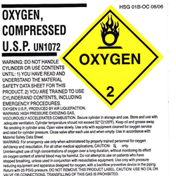 Material Safety Data Sheet Oxygen Gas